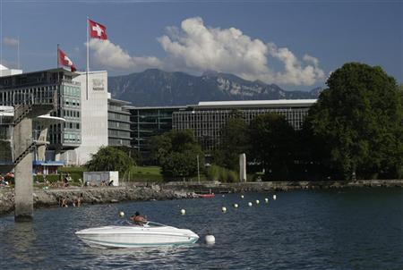 Image from reuters.com. The headquarters of food giant Nestle is pictured in Vevey August 8, 2012.  Credit: Reuters/Denis Balibouse