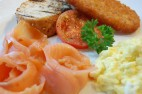 Salmon with Scrambled Eggs