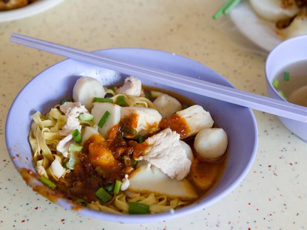 Fish Ball Mee at Tiong Bahru Hawker Center